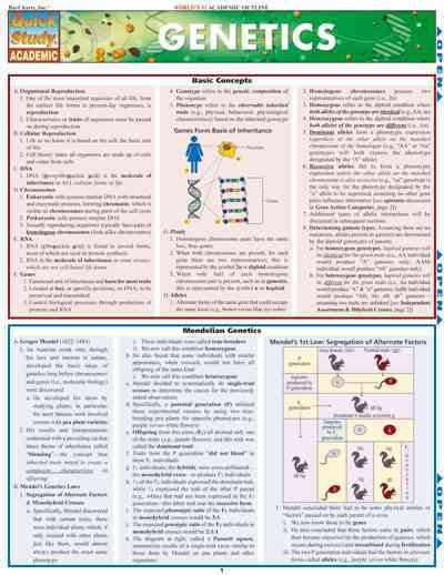 Genetics Quick Reference Guide By Barcharts, Inc. (COR)